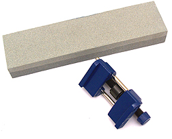 You'll need a chisel sharpening stone. Pour a little oil onto it to